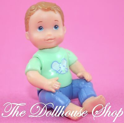 Fisher Price Loving Family Dollhouse Nursery Green top Baby Boy Doll