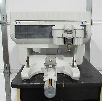 Hermes Gravograph Model Is400 Computerized Engraving Machine Rotary Power Tested