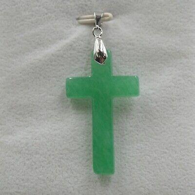 Hot Sale GP 18K Alloy & Green Jade Cross For Women Pendant 45*21mm Best (18k Green Cross)