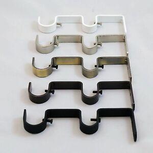 Urbanest Heavy Duty Steel Double Drapery Curtain Rod Bracket For 1 Or 3 4 Rod
