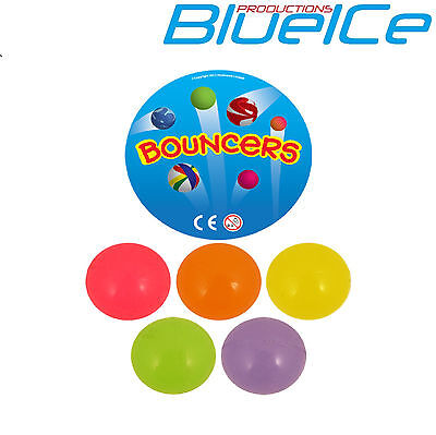 15 Glow in the Dark large 35mm jet super bouncy balls.Great retro toys UK SELLER ()