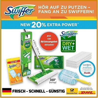 Swiffer Bodenwischer Starter-Set Dry + Wet + Staubmagnet Starter Test-Kit