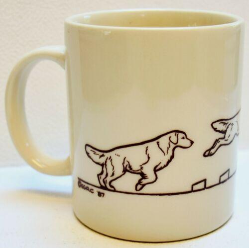Vintage Golden Retriever Dog Agility Ceramic Mug Cup - Rare!