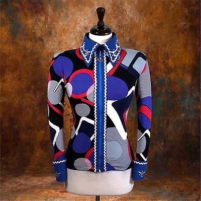 2X-SMALL  Showmanship Pleasure Horsemanship Show Jacket Shirt Rodeo Queen Rail