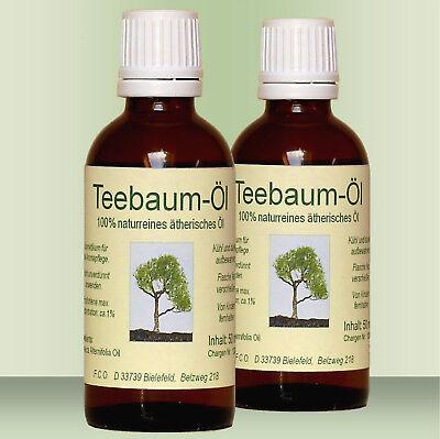 Teebaum Öl Teebaumöl, 2 x 100 ml, 100% naturreines ätherisches Öl (Australien) (L ätherisches öl)