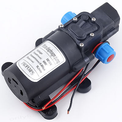 DC 12V Water Pump High Pressure 115Psi 5Lpm Self-Priming Caravan Camping Boat