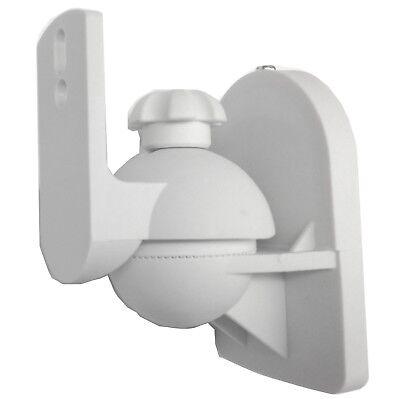 1 Universal Satellite Speaker White Wall Mount Tilt Bracket fits Bose Jewel Cube Cube Speaker Wall Bracket