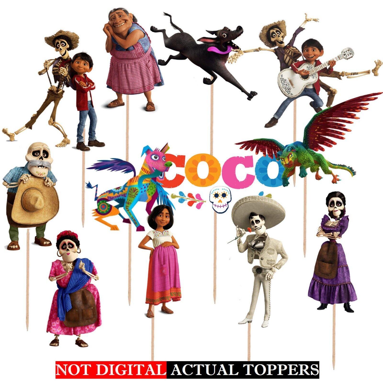 как выглядит Воздушный шар для праздника или вечеринки COCO CUPCAKE TOPPERS CUP CAKE TOPPER Birthday Party Supplies BALLOON DECORATION фото