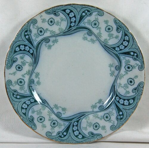 BEAUTIFUL ANTIQUE BURGESS AND LEIGH MIDDLEPORT POTTERY PLATE - RICHMOND PATTERN