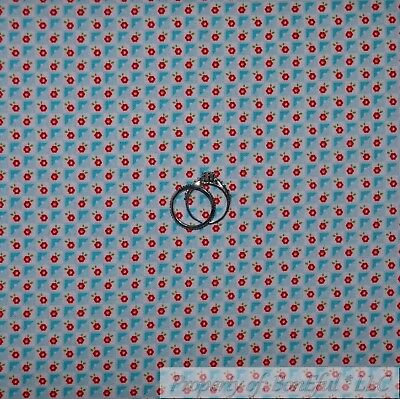 Blue Gingham Fabric (BonEful Fabric Cotton Quilt Cream Blue Red White Flower Small Gingham USA)