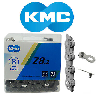 """SUNRACE CN-M84  8-SPEED 1//2/"""" X 3//32/""""   116 LINKS GREY BICYCLE CHAIN"""