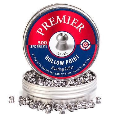 Crosman .22 Cal Premier Hollow Point Pellets-Tin of 500-LHP22