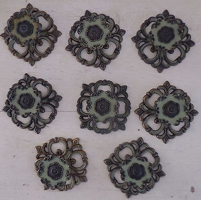 LOT MID CENTURY FRENCH PROVINCIAL CABINET KNOBS DRAWER PULLS ROSETTES