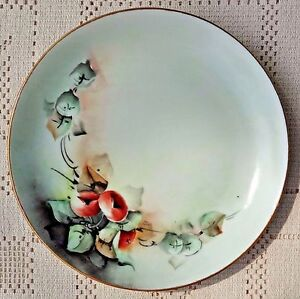 ANTIQUE-EARLY-20th-CENTURY-HUTSCHENREUTHER-SELB-BAVARIA-HAND-PAINTED-PLATE