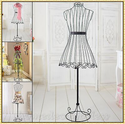 Vintage Dress Form Metal Wire Mannequin Boutique Store Display Stand Functional