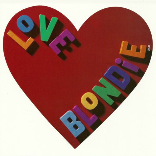 Vintage 1978 Love Blondie Heart Valentines Day promo display Debbie Harry Heart