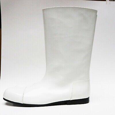 Boots comme des garcons white leather NRW - size 25 japan- 40 EU [OP/ 1500*US]