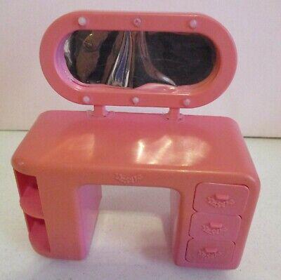 Barbie-Bedroom Dresser with Mirror-Beverly Hills 3 in 1 Set-1985-Vintage