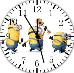 Cute Funny Minions Frameless Borderless Wall Clock For Gifts or Home Decor E48