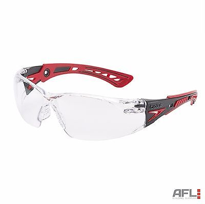 Bolle Rush+ Anti-Fog Anti-Scratch Safety Spectacles Glasses - Clear Lens