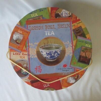 Vintage Round Cardboard Hat / Keepsake Box ~Tea Labels by Lisa Ven Vertloh ~13