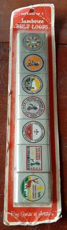 Vintage BSA Boy Scouts Of America National Jamboree 7 Belt Loops sealed package