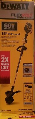 "DeWALT DCST970X1S 60V MAX Li-Ion FlexVolt Brushless 15"" String Trimmer NEW"