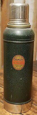 Vintage STANLEY SUPER VAC Thermos Cork Top Collectible w Cork Great Piece!