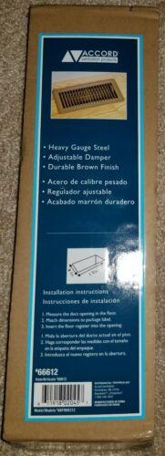 Accord Ventilation Prod. Floor Register 2inx12in Heavy Gauge