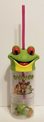 Rainforest Cafe Cha Cha Tree Frog Plastic Beverage Travel Cup W/Snack Cup & Toy