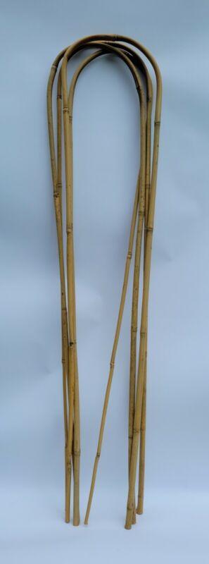 Natural Bamboo Garden Trellis U-Hoop set of 4, Eco-Friendly Support 4 Feet long