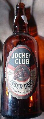 Jockey Club Seattle Washington lager Beer Bottle Vintage Hemrich brewing Co