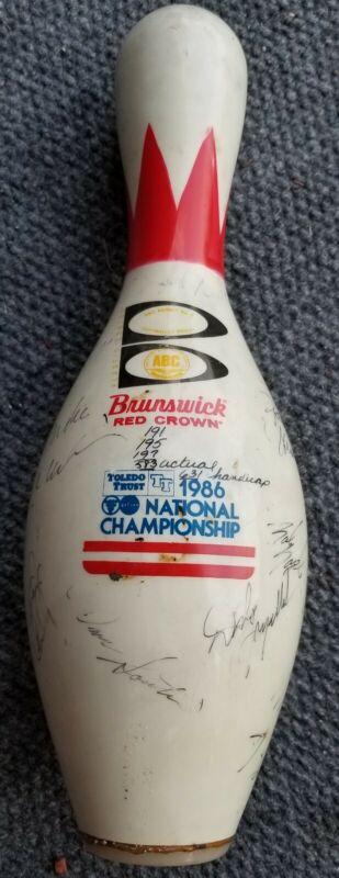 Brunswick 1986 ABC National Championship Bowling Pin Toledo Ohio Red Crown