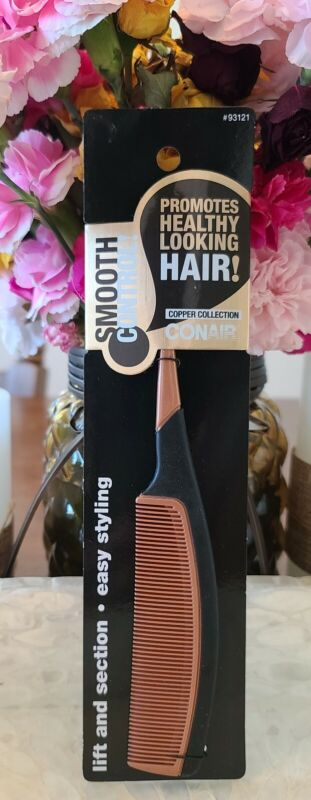 Conair Smooth Control Comb/Copper Collection Healthy Hair Comb/Easy Styling Lift
