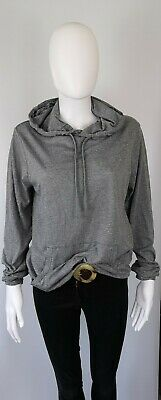 All Saints Small 8 10 12 Hoodie Top Jersey Pullover Grey Marl...