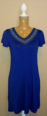 NWT Womens DESIGN HISTORY Blue Butterfly Maxi Summer Dress Size S Small ()