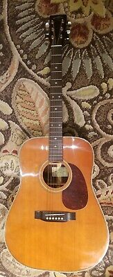 Vintage Sigma Martin DR-28 H Acoustic Guitar w/Case Rosewood & Herringbone