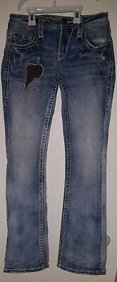 LADIES ROCK REVIVAL EVIE MID-RISE BOOT STRETCH JEANS SIZE 26 Very Nice Must See! Mid-rise Boot