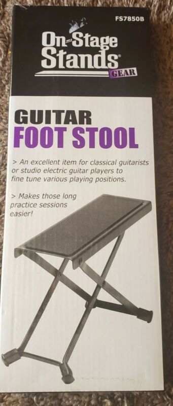On-Stage Folding Guitar Foot Stool (FS7850B)adjusts 5 height and angle -4 rubber