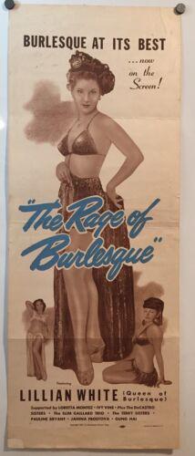 THE RAGE OF BURLESQUE - Rare & beautiful 1951 insert - Featuring Lillian White!!