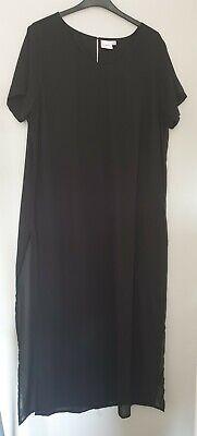 Junarose size 20 Black Maxi Dress - Side Split.  Used