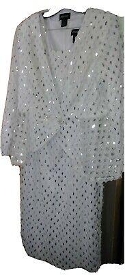 16W Sparkling white amazing dress with jacket/Wedding
