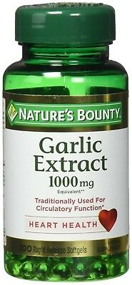 Nature's Bounty Garlic Extract 1000 mg, 100 Rapid Release Softgels