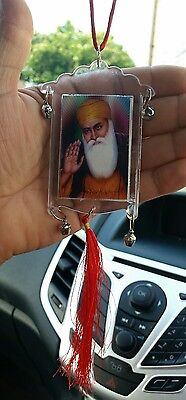 Guru Nanak Ji Gobind Singh Ji Photo Sikh Charm Pendant Car Rear Mirror Hanging