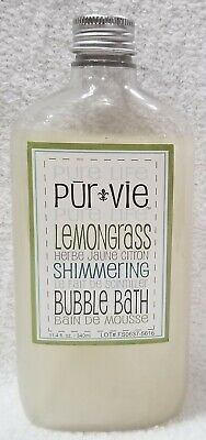 Pure Life Pur Vie LEMONGRASS Shimmering Bubble Bath Shower Gel 11.4 oz/340mL - Lemongrass Bubble Bath
