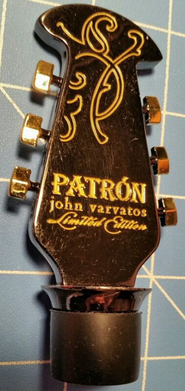 Rare 2012 John Varvatos Patron Limited Edition Guitar Head Bottle Stopper, Nice!