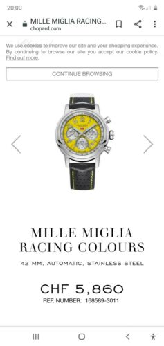 Chopard Mille Miglia Racing Colours 42mm, Automatic, Stainless Steel - watch picture 1