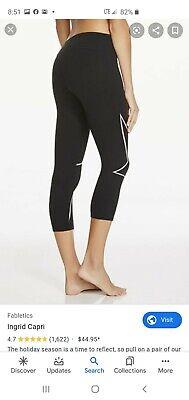 Fabletics Yoga Pants Ingrid Printed Power Hold Capri Run Stretch Womens XXS EUC