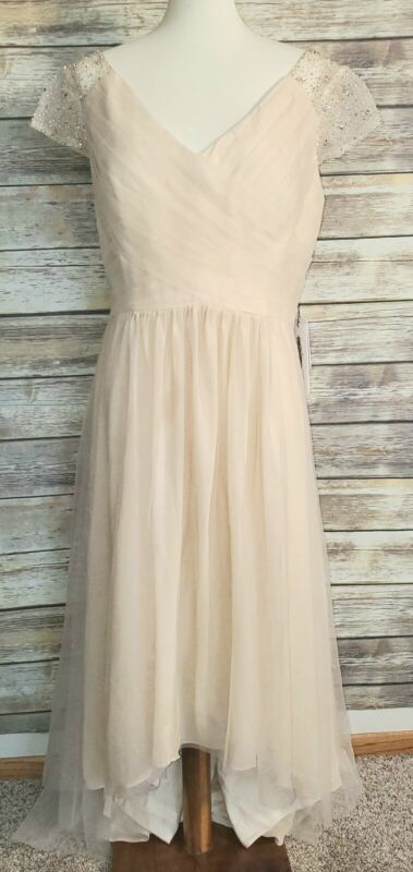 Jjs house dress, BEAUTIFUL, bride, wedding, prom size 16, hi-lo hem
