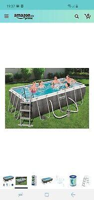 Bestway Power Steel Swimmingpool-Set Schwimmbecken Rechteckig 404×201×100 cm Neu